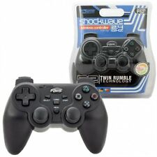 Wireless KMD Dual Vibration Shock Wave Controller for Sony PlayStation or PS2