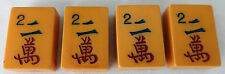 VINTAGE MAHJONG MAH JONG JONGG Caramel Characters Tiles Set #2