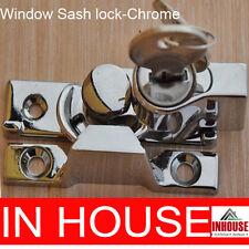 Window Sash Lock Keyed Alike 2 Keys- Chrome