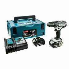 Makita DHP 482 RTWJ 18 V Combi Perceuse 2 x 5.0Ah Batteries Chargeur + Coque Arr...