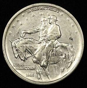 1925 50c Stone Mountain Half Dollar - Free Shipping USA