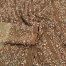 Sanskriti Vintage Green Sarees Pure Silk Bandhani Printed Sari Soft Craft Fabric