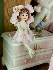 Vintage Miniature Dollhouse Artisan Porcelain Tiny Fairy Doll Wonderfully Made
