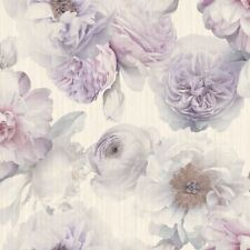 DIAMOND BLOOM FLORAL WALLPAPER LAVENDER - ARTHOUSE 257003 GLITTER
