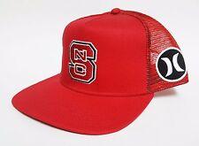 HURLEY BLOCK PARTY TRUCKER Snapback Hat OSFA ($30) NEW Mesh Cap NC STATE PACK