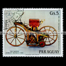 ★ GOTTLIEB DAIMLER WILHELM MAYBACH ★ PARAGUAY Timbre Moto Motorcycle Stamp #75