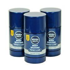 3xPack NIVEA Men PROTECT & CARE BODY SHAVING STICKS - 225 ml *GERMANY*