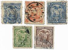 Equateur, 1881 / 1887 / 1897 - Livraison offerte dès 5 lots en achat groupé