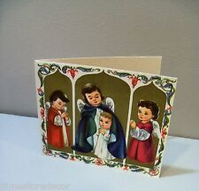 Vtg Christmas Card Angels Protect Christ Child Baby Jesus Artist Else?