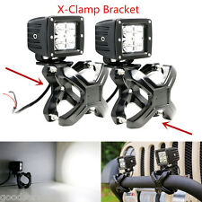 2Pcs Adjustable Bull Bar X-Clamp Bracket Mount Holder Clip Kit for 4x4 Offroad