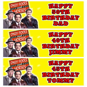 ONLY FOOLS AND HORSES Personalised Birthday Banner - Birthday Party Banner