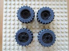 Lego 4 x Reifen 55982c01 schwarz 30.4 x 14 Achs Loch Felge 18x14 30391 5974 8184