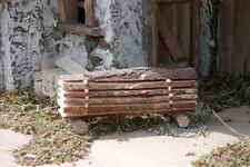 Krippenzubehör- Baumstamm geschnitten - Naturholz - neu !!!