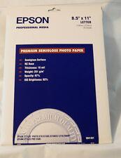 Epson Premium Semigloss Photo Paper 8.5x11 (Letter) S041331 20 Sheets