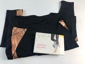 Xhilaration Fashion Leggings Wide Waist Band Size Small Copper Detail