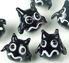 Lampwork Handmade Flying Cat Halloween Beads (5)
