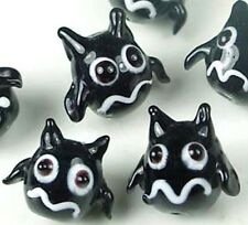 Lampwork Handmade Flying Cat Halloween Beads (6)