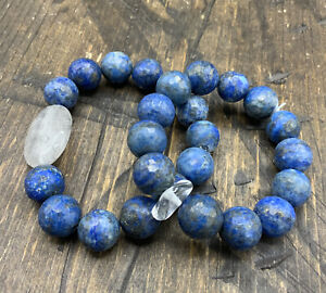 Barse Duo Stretch Bracelet- Lapis & Quartz-NWT