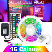 LED Strip Light RGB 5050 SMD 2835 Flexible Ribbon RGB Stripe 5M 10M Full Kit