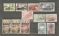 Soviet Union 1938y.Sc#C76 A-D;772-75;636-37;639.Thre sets 12 used stamps .