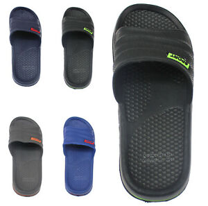 NEW MENS LIGHTWEIGHT SLIDERS SUMMER POOL BEACH FLIP FLOPS SHOWER BOYS SHOES SIZE
