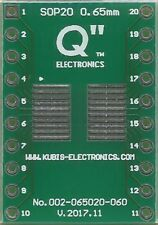 "SOP20,MSOP20,TSOP20 0.65mm(0.026"")  naar DIP20 0.6"" socket. [NL]"