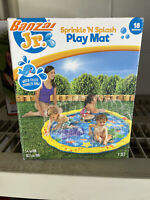 Banzai JR Sprinkle and Splash Play Mat Inflatable Water Fountain 18 months +