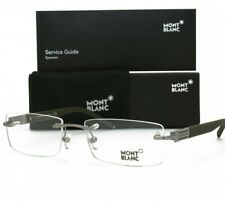 Mont Blanc Rimless Eyeglasses MB 382 015 Matte Light Silver Brand New