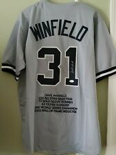 Dave Winfield Autographed/Signed Jersey JSA COA CAREER HIGHLIGHT JERSEY