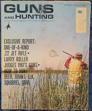 Vintage Magazine GUNS and HUNTING December 1961 !! MOSSBERG Model 500 SHOTGUN !!