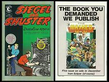 SIEGEL AND SHUSTER: DATELINE 1930'S #1 NM/MT (Eclipse 1984) Unpublished works