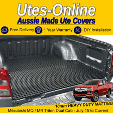 Heavy Duty Perforated Rubber Ute Mat (10mm) For MITSUBISHI MQ/MR TRITON DUAL CAB