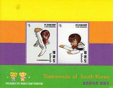St Vincent & The Grenadines 2014 MNH Taekwondo South Korea 2v S/S I Philakorea