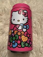 "Sanrio HELLO KITTY Pink Round 7.5""  Aluminum Piggy Bank"