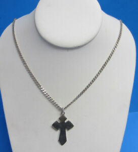 Sterling Silver Cross Made in Mexico T9-102 -- Free Shipping *