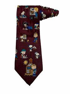Peanuts School Is Cool Snoopy Woodstock Charlie Brown Cartoon Novelty Necktie