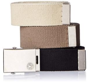 Levi's Men's Cut To Fit 3 Pack Web Belt With Buckle