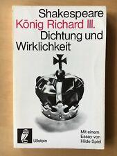 """Schwab-Felisch:  """"Shakespeare König Richard III.""""  Dichtung und Wirklichkeit"""