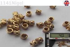 M3 x 4mm(L) 4mm(OD) Metric Threaded Brass Knurl Round Insert Nuts