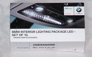 BMW OEM LED Ten Piece Interior Light Package Bulb Upgrade Kit All Current Models