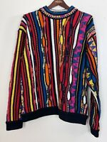 Rare Vintage Auth. Coogi Biggie Cosby Pure Wool Sweater Size Large Australia