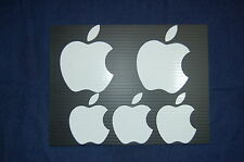5 APPLE LOGO weather proof vinyl decal Sticker laptop Mac Macintosh