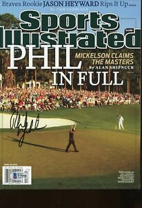 Phil Mickelson No Label Sports Illustrated Magazine signed autographed COA BAS