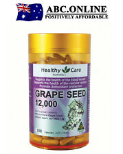 Healthy Care Grape Seed Extract 12000 Gold Jar 300 Blood Vessels Veins Eyes Skin
