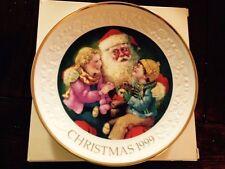 Avon Santas Tender Moment Christmas Plate 1999 In Original Box