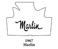 1967 AMC Marlin Trunk Rubber Floor Mat Cover with A-030 Marlin Script