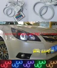 2x RGB Multi-Color Angel Eyes kit Halo Rings For Subaru Impreza WRX STI 2007-11
