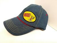 VTG 90s Disney Mickey Mouse Hat Strap Back Denim Cap CK Style