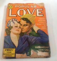 1940 ORIGINAL LOVE STORY PULP MAGAZINE ROMANCE Street & Smith's