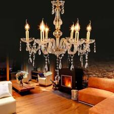Elegant Crystal Chandelier Modern 6 Ceiling Lights Lamp Pendant Home Fixture E12